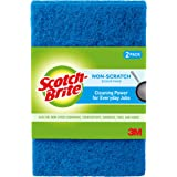 Scotch-Brite Multi-Purpose Non-Scratch Scouring Pad, Blue, (Pack of 3)
