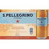 San Pellegrino Essenza Tangerine and Wild Strawberry Sparkling Water, 330 ml (Pack of 8)