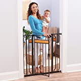 Regalo Home Accents Extra Tall Metal Walk-Through Safety Gate, With Wood Accents