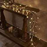 LITBLOOM Lighted Birch Garland 6FT 48 LED Battery Operated with Timer Pre-lit Twig Vine Lights for Christmas Holiday and Part