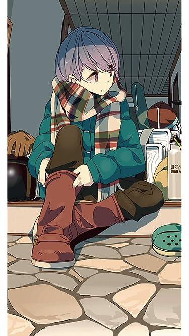 ゆるキャン△  iPhone/Androidスマホ壁紙(640×1136)-1 - 志摩 リン(しま リン)玄関でブーツを履く