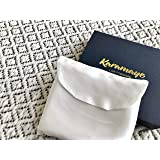 Karamaye 100% Mulberry Silk Charmeuse Standard Pillowcase with Pouch and Gift Box 22 Momme 6A Ivory White
