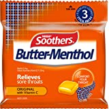 SOOTHERS Butter-Menthol Sore Throat Lozenges, 120g, 30mg