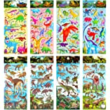 IVLWE 8 Sheets Kids Dinosaur Stickers, Intellectual DIY Non-Toxic 3D Puffy Stickers for Children, Teacher, Parent, Grandparen