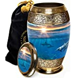 Dolphin Destiny Cremation Urns for Human Ashes Adult for Funeral, Burial, Columbarium or Home, Cremation Urns for Human Ashes