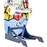 SkaterTrainer 折り紙スケートボードスタンドとポータブルスケートディスプレイ ブラック