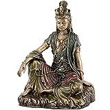 Water and Moon Quan Yin Statue (Kuan Yin) - 5 inches Tall - Bronze