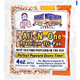 4 oz Popcorn Packs – Pre-Measured, Movie Theater Style, All-in-One Kernel, Salt, Oil Packets for Popcorn Machines by GREAT NO