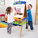 Crayola Kids Wood Studio Set, Draw' N Store, with Magnetic/Dry-Erase and Chalkboard Surfaces, Ages 3, 4, 5, 6