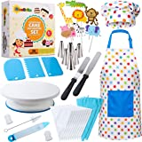 RISEBRITE Cake Decorating Kit for Kids Baking Set for Girls and Boys – 38 Pcs Gift Set includes Kids Apron, Chef Hat, Cake De