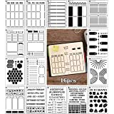 Planner Stencil Set for Dotted Journals Time Saving Accessories Bullet Notebook Supplies Make Creating Layouts Easy for Bulle