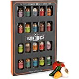 Thoughtfully Gifts, Smokehouse Ultimate Grilling Spice Set, Grill Seasoning Gift Set Flavours Include Chili Garlic, Rosemary