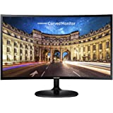 Samsung CF390 Series 27 inch FHD 1920x1080 Curved Desktop Monitor for Business, HDMI, VGA, VESA mountable, 3-Year Warranty, T