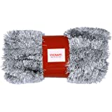 YYCRAFT 15 Yards (45 Feet) Commercial Length Thick Foil Tinsel Christmas Garland Classic Christmas Decorations, Silver