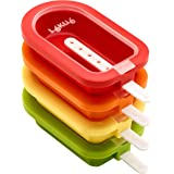 Lekue Popsicle Mould Stackable 4 Pieces, Multicolour, 3400221S01U150