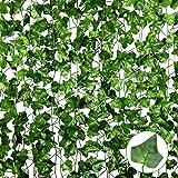 Anoak 90 Ft 12 Pack Artificial Ivy Fake Vine Leaves Wedding Garland Greenery Foliage Fake Hanging Plants for Wedding Decor Pa