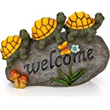 Welcome Turtles on a Rock Solar Garden Light