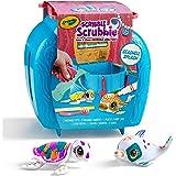 Crayola Scribble Scrubbie Seashell Splash Set, Washable Sea Creature Figurines, Portable Travel Toy for Kids, Colour, Rinse a