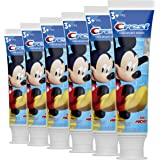 Crest Kid's Cavity Protection Toothpaste Featuring Disney Junior Mickey Mouse, Strawberry, 4.2 Ounce, Ages 3 plus, Pack of 6