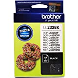Brother Genuine LC233BK Ink Cartridge, Black, Page Yield Up to 550 Pages, (LC-233BK)