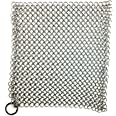 Chain Mail Scrubber by Crisbee - 316 Stainless Steel - Rust Resistant - Perfect for Cast Iron and Carbon Steel Cookware by Cr