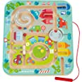 HABA Town Maze Magnetic Game Developmental STEM Activity Encourages Fine Motor Skills & Color Recognition with Roundabout, Ro