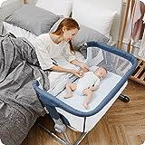 Unilove Hug Me Plus 3-in-1 Baby Bassinet, Adjustable Bedside Co Sleeper, Portable Travel Cosleeping Bed, Newborn Side Crib, B