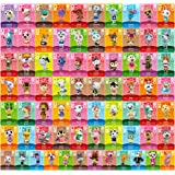 72 pcs NFC Tag Game Rare Villager Cards for ACNH New Horizons, 72 pcs NFC Game Cards with Crystal Case Compatible with Switch