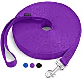 15ft 20ft 30ft 50ft Long Lead-Training Leash/Long Line Dog Leash Great for Dog/Puppy Training,Play,Camping,Extra Long Dog Lea