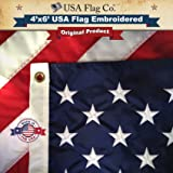 US Flag 4x6 by USA Flag Co. is 100% American Made: The Best Embroidered Stars and Sewn Stripes American Flags, Made in The US