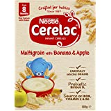 NESTLÉ CERELAC Multigrain with Banana & Apple Baby Cereal Stage 3, 6x200g