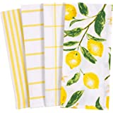 KAF Home Pantry All Over Kitchen Dish Towel Set of 4, 100-Percent Cotton, 18 x 28-inch, Lemons, 18 x 28-inch
