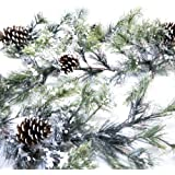 CraftMore Snowville Pine Christmas Garland, 72 Inch