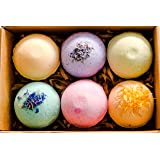 Pangolin House 6 Organic and Natural Bath Bomb Gift Set. Australian Handmade Fizzies for Bubble Bath. Rich in Essential Oil,