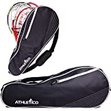 Athletico 3 Racquet Tennis Bag   Padded to Protect Rackets & Lightweight   Professional or Beginner Tennis Players   Unisex D