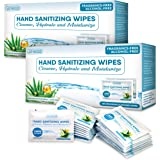 [Pack of 240] Hand Sanitizing Wipes, Alcohol Free Travel Sanitizing Wipes, Disposable Hand Sanitizer Wipes with Vitamin E and