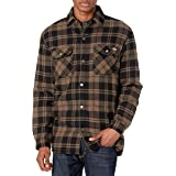 Dickies Men's Sherpa Lined Flannel Shirt Jacket with Hydroshield