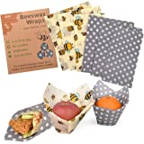 Reusable Beeswax Food Wraps Assorted 6 Pack by Eco Hive, Eco Friendly Food Wraps, Biodegradable, Sustainable Plastic Free Foo