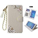 「kaupili」 iPhone7&iPhone8 兼用ケース 鏡/ミラー付き カード収納 スタンド機能 手帳型 お財布…