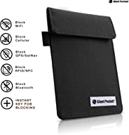 Silent Pocket Signal Blocking Faraday Key Fob Case - Car Anti Theft Device Shielding Against All Signal Types, Including RFI