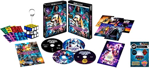 【Amazon.co.jp限定】レディ・プレイヤー1 プレミアム・エディション(4K ULTRA HD&3D&2D&特典ブルーレイセット)(限定版/4枚組/ブックレット付)(オリジナルピンバッジ5個セット) [Blu-ray]