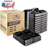 Blockaholic - RV Leveling Blocks - Pads with Built-in Ramps and Quick Release Carrying Strap - Heavy Duty and Extra Large