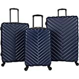 """Kenneth Cole Reaction """"Madison Square"""" Women's Lightweight Hardside 3-Piece 20""""/24""""/28"""" Chevron Expandable Spinner Luggage Se"""