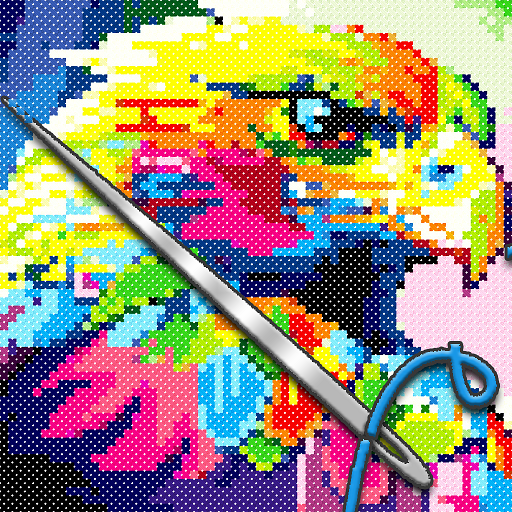 Amazon Co Jp Animals Cross Stitch Pixel Art Paint By Number Sandbox Coloring Pages Android ¢プリストア