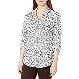 Foxcroft Womens 179243 Faith Butterfly Tunic 3/4 Sleeve Tunic Shirt