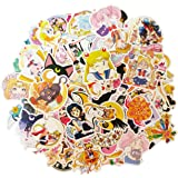 LMKZ 100PCS Sailor Moon Stickers for Water Bottles,Classic Japanese Cartoon Anime Waterproof Stickers for Laptop,Phone,Hydro
