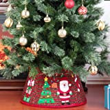 Yomikoo Christmas Tree Collar,Santa Pattern Tree Stand Band for X'Mas Tree,Home Decoration
