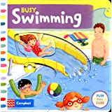 Busy Swimming: Push, pull and slide the scenes to bring the swimming pool to life!