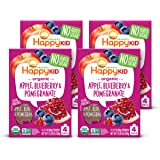 Happy Kid Organic Superfoods Twist Apple Blueberry Pomegranate, Baby Toddler Kid Snack, Resealable, No Added Sugar Non-GMO Ko