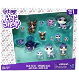 Littleest Pet Shop Chillin' Together Series 1 Exclusive Set 14 Figures (Includes: Cariboo, Snow Leopard, Whale, Husky, and Pe